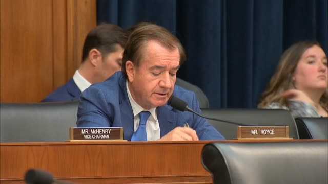 california congressman ed royce tells vice chairman for supervision of the federal reserve randal quarles testifies at a house financial services... - former stock videos & royalty-free footage