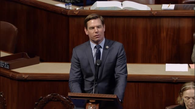 California Congressman Eric Swalwell a member of the House Select Committee on Intelligence discusses investigations into Russian involvement in the...