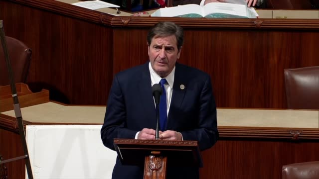 california congressman john garamendi says and asks president donald trump if he has any idea what would be caused by a government shutdown... - pazifikküste stock-videos und b-roll-filmmaterial