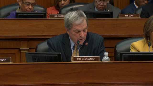 California Congressman Mark DeSaulnier asks former Donald Trump attorney Michael Cohen at a House Oversight and Reform Committee hearing about a Wall...