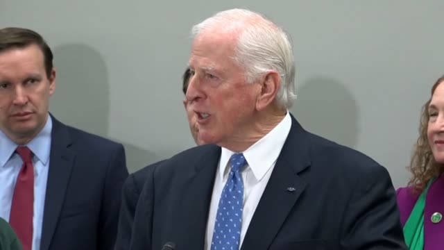 california congressman mike thompson says at a news conference on gun violence that he receives phone calls and letters from new members as a member... - request stock videos & royalty-free footage
