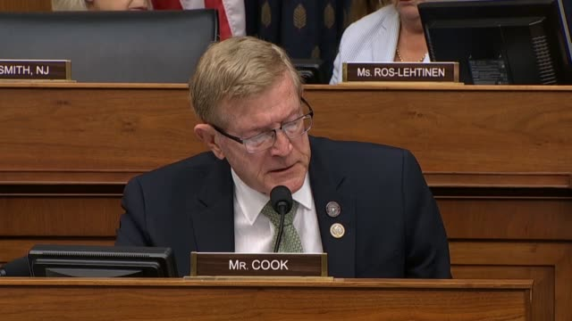 california congressman paul cook tells secretary of state mike pompeo at a house foreign affairs committee hearing that he and others had attended a... - computer key stock videos and b-roll footage