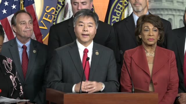 california congressman ted lieu says as a former prosecutor he sees allies of president donald trump and some in congress smearing law enforcement... - christopher a. wray stock videos & royalty-free footage