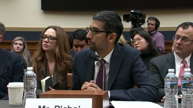 california congressman ted lieu tells google ceo sundar pichai at a house judiciary committee hearing his company follows corporate laws but has a... - trust stock videos & royalty-free footage