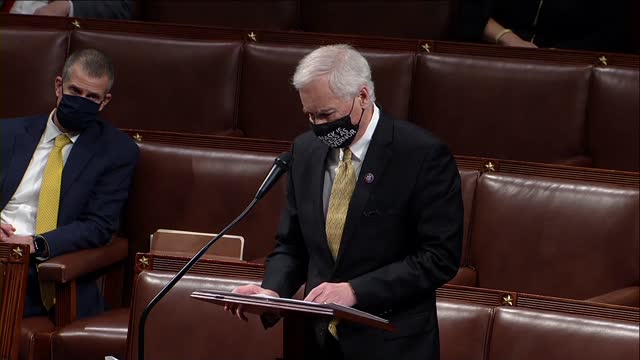 california congressman tom mcclintock says in debate on a second impeachment of president donald trump for high crimes and misdemeanors charging... - benjamin franklin stock videos & royalty-free footage
