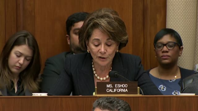 california congresswoman anna eshoo asks facebook ceo mark zuckerberg at an house energy and commerce committee hearing on data privacy whether he... - senate stock videos & royalty-free footage