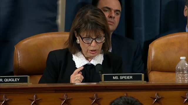 california congresswoman jackie speier asks former us ambassador to ukraine marie yovanovitch at the second public impeachment inquiry hearing of... - organised group stock videos & royalty-free footage
