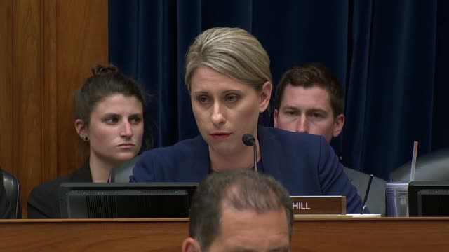 california congresswoman katie hill says at a house oversight and reform committee hearing on migrant family separation that she was at the law... - hill点の映像素材/bロール