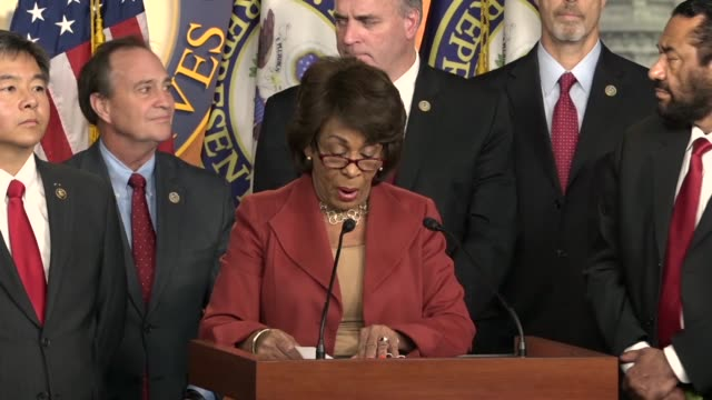 california congresswoman maxine waters says despite respect and praise for special counsel robert mueller there is an organized effort by republicans... - shock tactics stock videos and b-roll footage