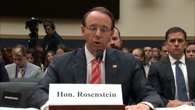 california congresswoman zoe lofgren questions deputy attorney general rod rosenstein and fbi director christopher wray at a house judiciary... - christopher a. wray stock videos & royalty-free footage