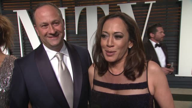 interview california district attorney kamala harris at the 2015 vanity fair oscar party hosted by graydon carter at the wallis annenberg center for... - wallis annenberg center for the performing arts stock videos and b-roll footage