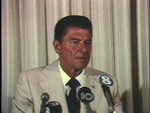 california governor ronald reagan voices his concern that the united states may forget people behind the iron curtain. - crime or recreational drug or prison or legal trial stock videos & royalty-free footage