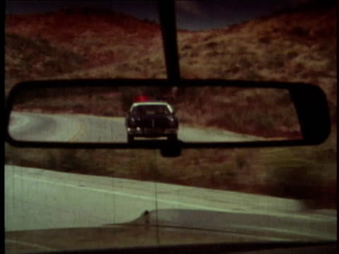 1978 montage california highway patrol car beginning pursuit of thieves in automobile / los angeles county, california, united states - 1978 stock videos and b-roll footage
