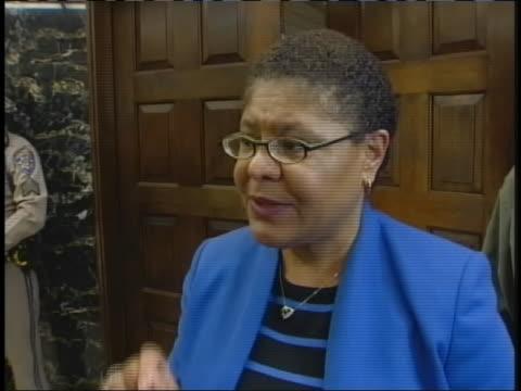 california legislator discusses the big 5 talks with reporters. - legislator stock videos & royalty-free footage