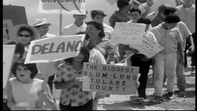 california migrant agricultural workers in the fields and protesting - lavoratore emigrante video stock e b–roll