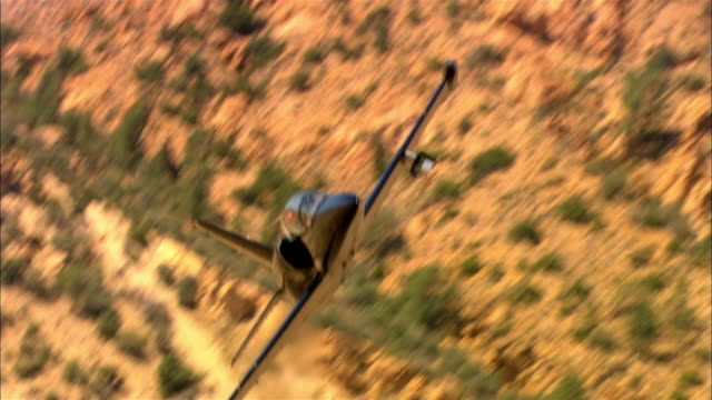 air to air, usa, california, mojave desert, aero l-39 albatross flying above mountains - us airforce stock videos & royalty-free footage