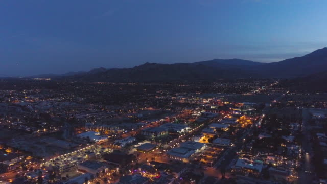 california night aerial - community stock videos & royalty-free footage