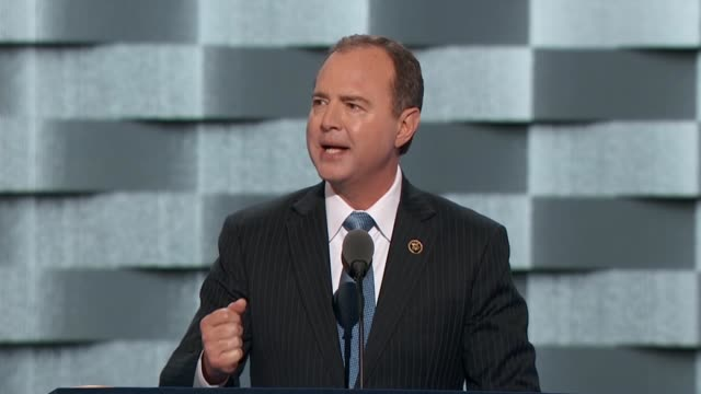 california representative adam schiff says as ranking democrat of the house select committee on intelligence tells convention delegates the stakes... - desire stock videos & royalty-free footage