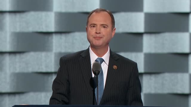 California Representative Adam Schiff says as Ranking Democrat of the House Select Committee on Intelligence tells convention delegates aware of the...