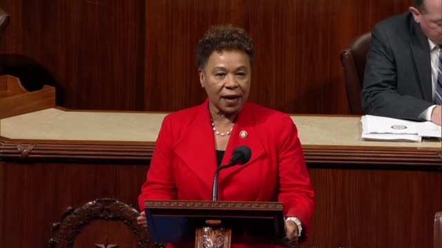 California Representative Barbara Lee observes the 46th anniversary of the landmark Roe versus Wade decision by the Supreme Court finding a...