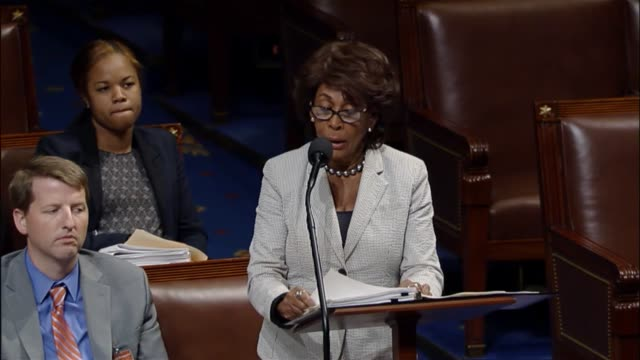 california representative maxine waters of the house financial services committee argues against a resolution disapproving of an arbitration rule... - credit union stock videos & royalty-free footage
