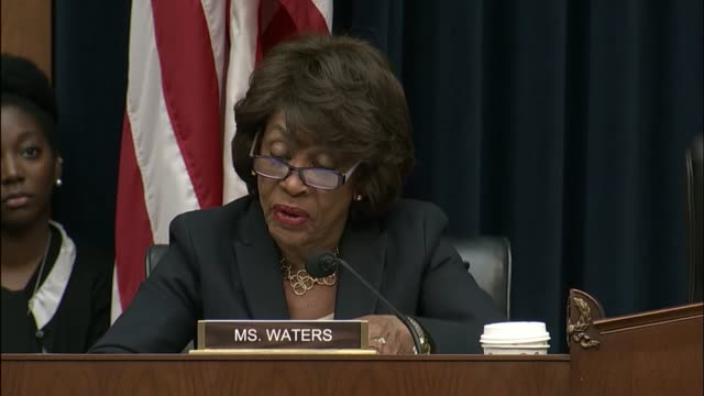 california representative maxine waters reads out for opening statement at a hearing of the fight house financial services committee into a data... - data breach stock videos and b-roll footage