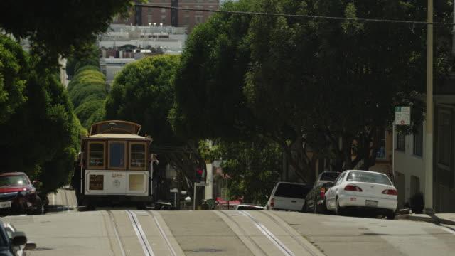 USA, California, San Francisco, Cable car on road