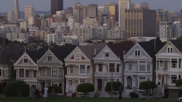 USA, California, San Francisco, View from Alamo Square Park on buildings