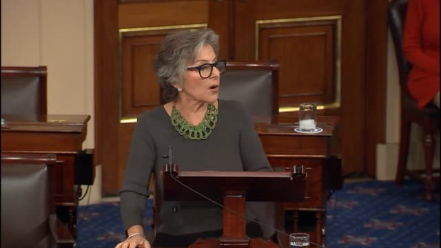 California Senator Barbara Boxer says she is ecstatic that her successor is Kamala Harris to continue the tradition of having a strong progressive...
