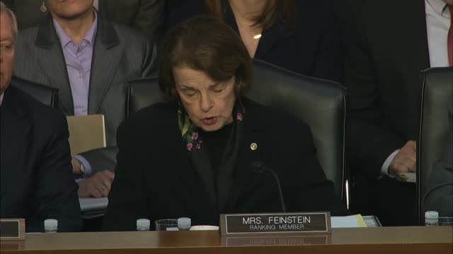 california senator dianne feinstein asks justice department inspector general michael horowitz at a senate c hearing on his report about the fbi... - generalstaatsanwalt stock-videos und b-roll-filmmaterial