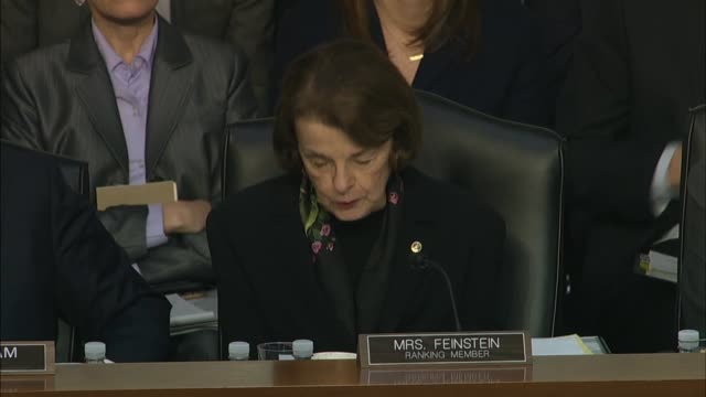 california senator dianne feinstein asks justice department inspector general at a senate judiciary committee hearing on his report about the fbi... - whistleblower human role stock videos & royalty-free footage