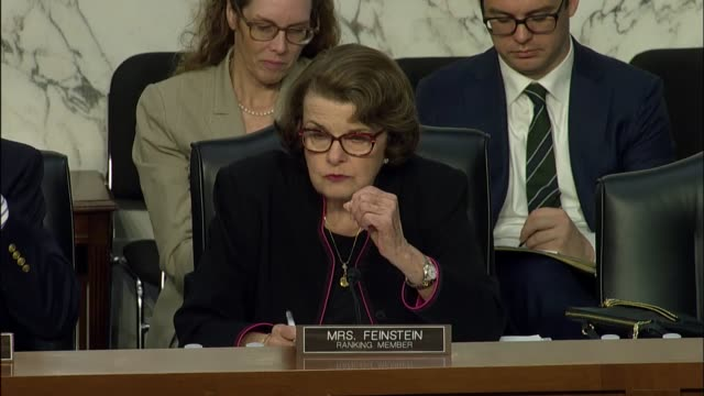 California Senator Dianne Feinstein asks witnesses at a Senate Judiciary Committee hearing on the Foreign Agents Registration Act for recommendations...