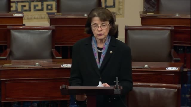 california senator dianne feinstein of the senate judiciary committee says during a 30 hour floor debate before a confirmation vote for seventh... - nominee stock videos & royalty-free footage
