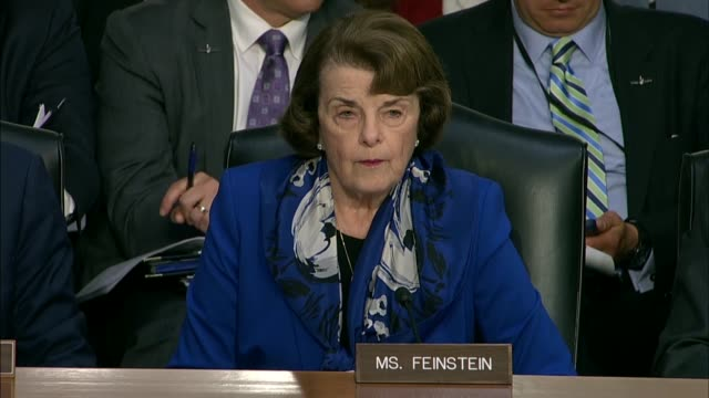 california senator dianne feinstein reads from a press account about 2002 actions by cia director nominee gina haspel at her nomination hearing, her... - nominee stock videos & royalty-free footage