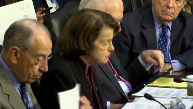 california senator dianne feinstein says at a hearing of the senate judiciary committee with border protection and immigration law enforcement of... - senate judiciary committee stock videos & royalty-free footage