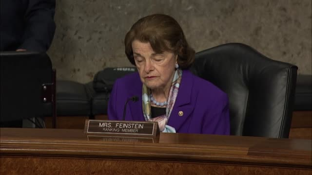 california senator dianne feinstein says at a hearing with former deputy attorney general rod rosenstein that it appeared senate republicans planned... - former stock videos & royalty-free footage