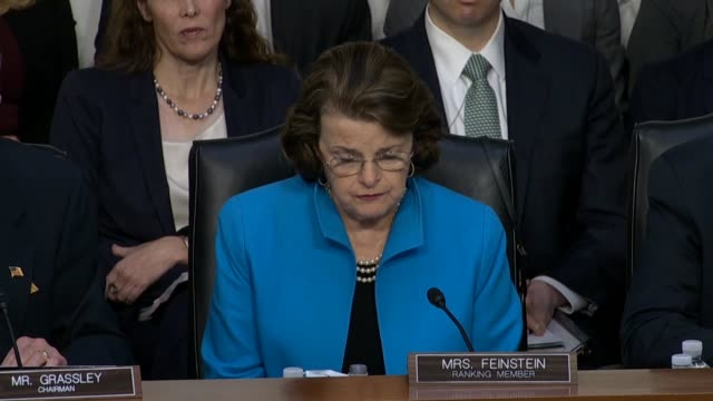 California Senator Dianne Feinstein says at a Judiciary Committee confirmation hearing on Judge Neil Gorsuch for the Supreme Court that the frozen...