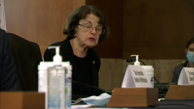 california senator dianne feinstein says at a senate and natural resources committee legislative hearing the largest wildfire in state history was... - oregon us state stock videos & royalty-free footage