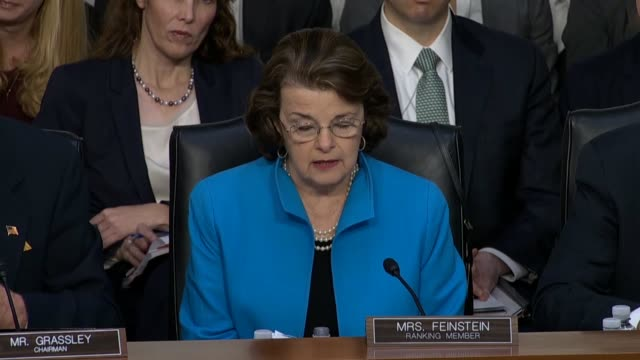 california senator dianne feinstein says at the confirmation hearing for judge neil gorsuch to the supreme court questions unlimited dark money to... - color block stock videos and b-roll footage