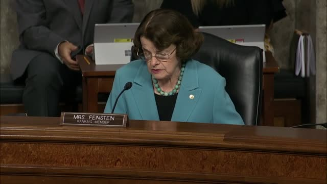 california senator dianne feinstein says in exchange with former deputy attorney general sally yates at a senate judiciary committee hearing to... - attorney general stock videos & royalty-free footage