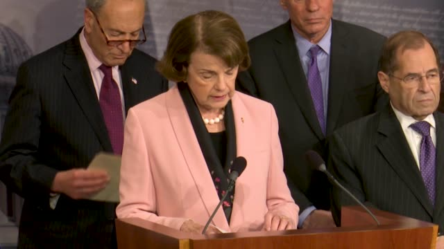 california senator dianne feinstein tells reporters at a news conference hours after justice department inspector general michael horowitz released a... - michael horowitz stock videos & royalty-free footage