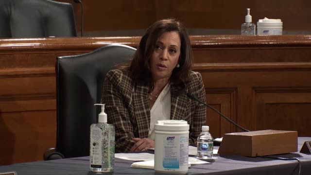 california senator kamala harris asks acting homeland security secretary chad wolf at a senate homeland security and governmental affairs committee... - {{relatedsearchurl(carousel.phrase)}} stock-videos und b-roll-filmmaterial