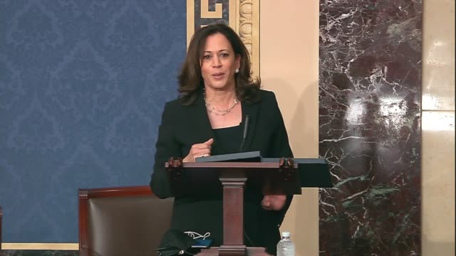 california senator kamala harris explains in objecting to a consent request by kentucky republican rand paul to amend the emmett till antilynching... - senator stock videos & royalty-free footage