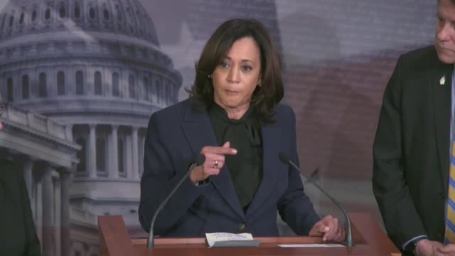 california senator kamala harris says at a press conference before key procedural votes in the impeachment trial of president donald trump that the... - {{ collectponotification.cta }} stock videos & royalty-free footage