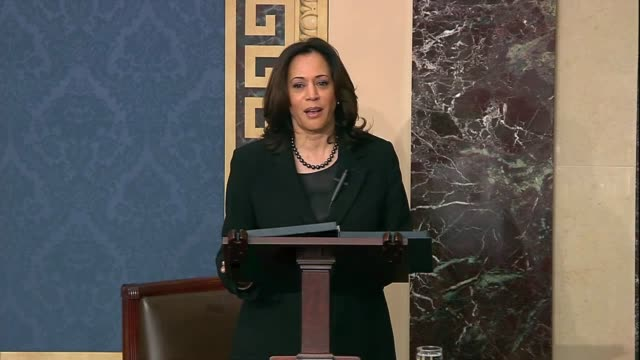 california senator kamala harris says in senate floor debate prior to votes on impeachment articles against president donald trump to speak truth... - {{ collectponotification.cta }} stock videos & royalty-free footage