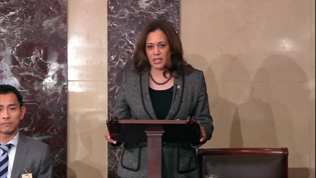 california senator kamala harris says lynching were crimes against innocent people that should have been prosecuted victims who did not receive... - lynching stock videos & royalty-free footage