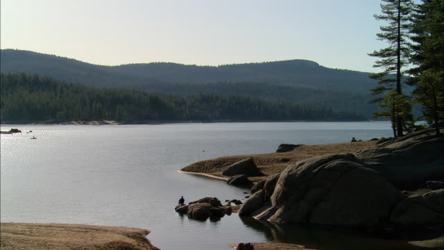 ws, usa, california, shaver lake - stationary process plate stock videos & royalty-free footage
