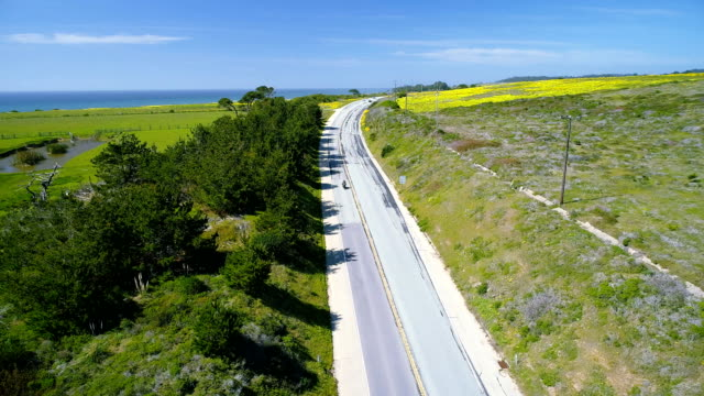 california state route 1 - two lane highway stock videos & royalty-free footage
