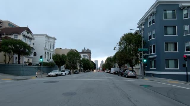 sfカリフォルニアストリートix同期シリーズフロントビュー駆動プロセスプレート - カリフォルニアストリート点の映像素材/bロール