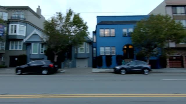 sfカリフォルニアストリートvii同期シリーズ左ビュー駆動プロセスプレート - カリフォルニアストリート点の映像素材/bロール